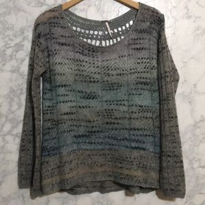 Free People Mohair Blend Knit Sweater Sz M